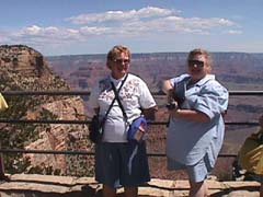 Alice and Deb at Grand Canyon
