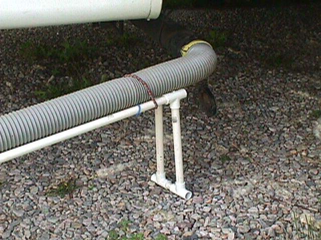 Rv Travel Report On Sewer Hose Supports